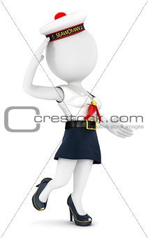 3d white people woman sailor