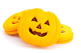 cookies in the shape of jack-o-lanterns