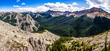 Panoramic view of Rocky mountains range, Alberta, Canada