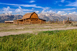 Abandoned barn on Mormon Row in Grand Teton NP, USA