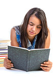 girl teenager reading book