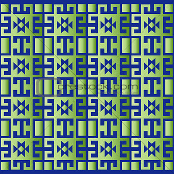green geometric retro background
