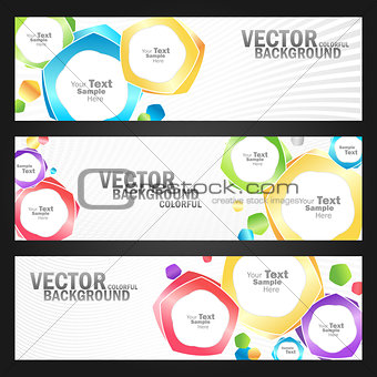 abstract colorful banners set