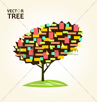 Abstract colorful tree Geometrical