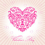abstract floral heart happy valentine day