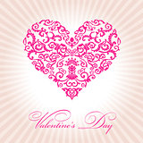 abstract floral heart valentine day pink