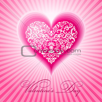 abstract floral heart valentine day