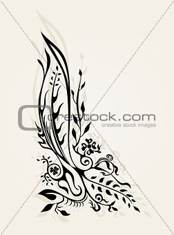 abstract floral tattoo decor ornament vector