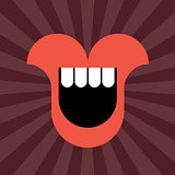 Smiling Lips vector icon