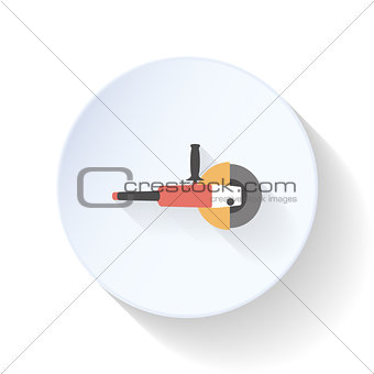Angle Grinder flat icon