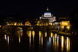 Night in Rome. San Pietro, Tibor