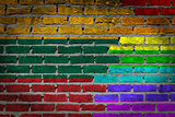 Dark brick wall - LGBT rights - Lithuania