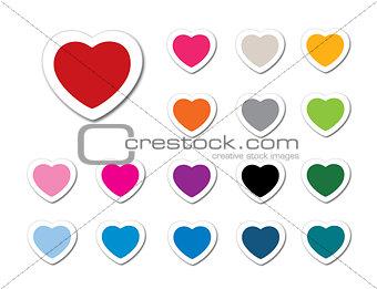 valentine icons set