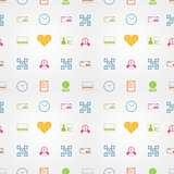 Colored vector background for e-shopping