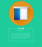 Vector ad layout for window louvers