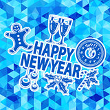 New Year Mosaic Pattern
