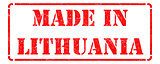 Made in Lithuania on Red Stamp.