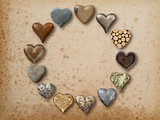 Heart shaped things arranged in circle