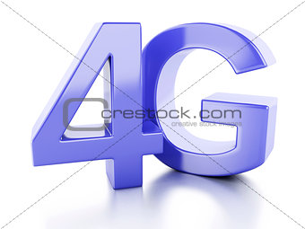 4G icon. wireless communication technology concept