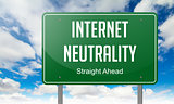 Internet Neutrality on Highway Signpost.