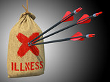 Illness - Arrows Hit in Red Target.