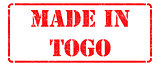 Made in Togo on Red Stamp.