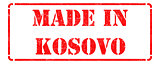 Made in Kosovo on Red Stamp.