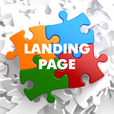 Landing Page on Multicolor Puzzle.