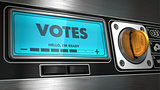 Votes in Display on Vending Machine.