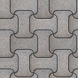 Wavy Gray Paving Slabs.