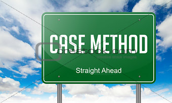 Case Method on Highway Signpost.