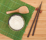 Japanese food ingredients and utensils