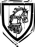 Heraldic Shield Horse