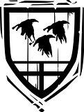 Heraldic Shield Ravens