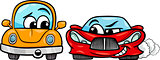 old automobile and sports car cartoon