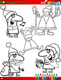 christmas themes coloring page