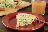 Quiche and pear juice