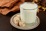 Holiday cookies and milk