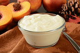Greek style peach yogurt