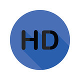 high definition flat icon