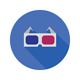 3d glasses flat icon