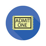 cinema ticket flat icon
