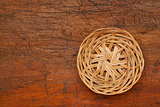 wicker basket tray abstract