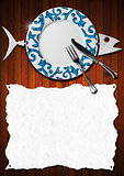 Fish Menu Design