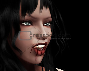 Portrait of vampire girl
