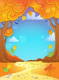 Autumn tree theme composition 2