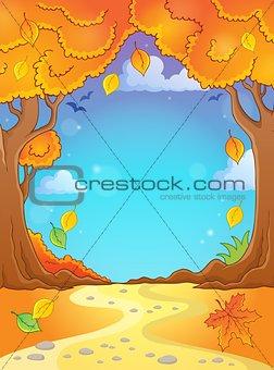 Autumn tree theme composition 2