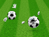 Two soccer ball smilies