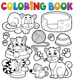 Coloring book cat theme collection