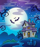Haunted house theme background